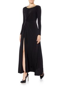 Michael Kors Beaded Neckline Twisted Maxi