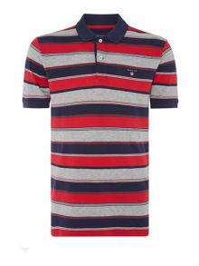 Gant Multistripe Short Sleeved Polo