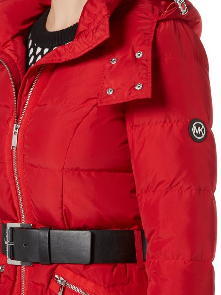 Michael Kors Belted Puffer Jacket