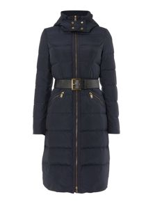 Michael Kors Long Belted Puffer Jacket