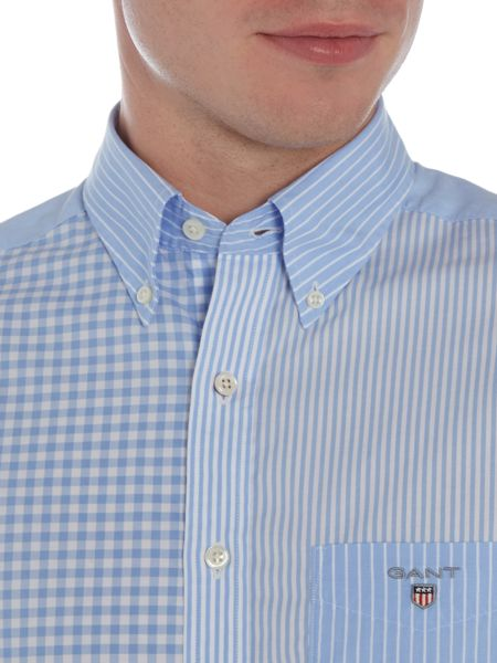 Gant Cut And Sew Panelled Long Sleeve Shirt