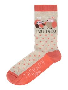 Therapy Owl polka dot socks