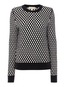 Michael Kors Long Sleeve Graphic Sweater