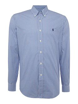 Long sleeve mid colour gingham shirt