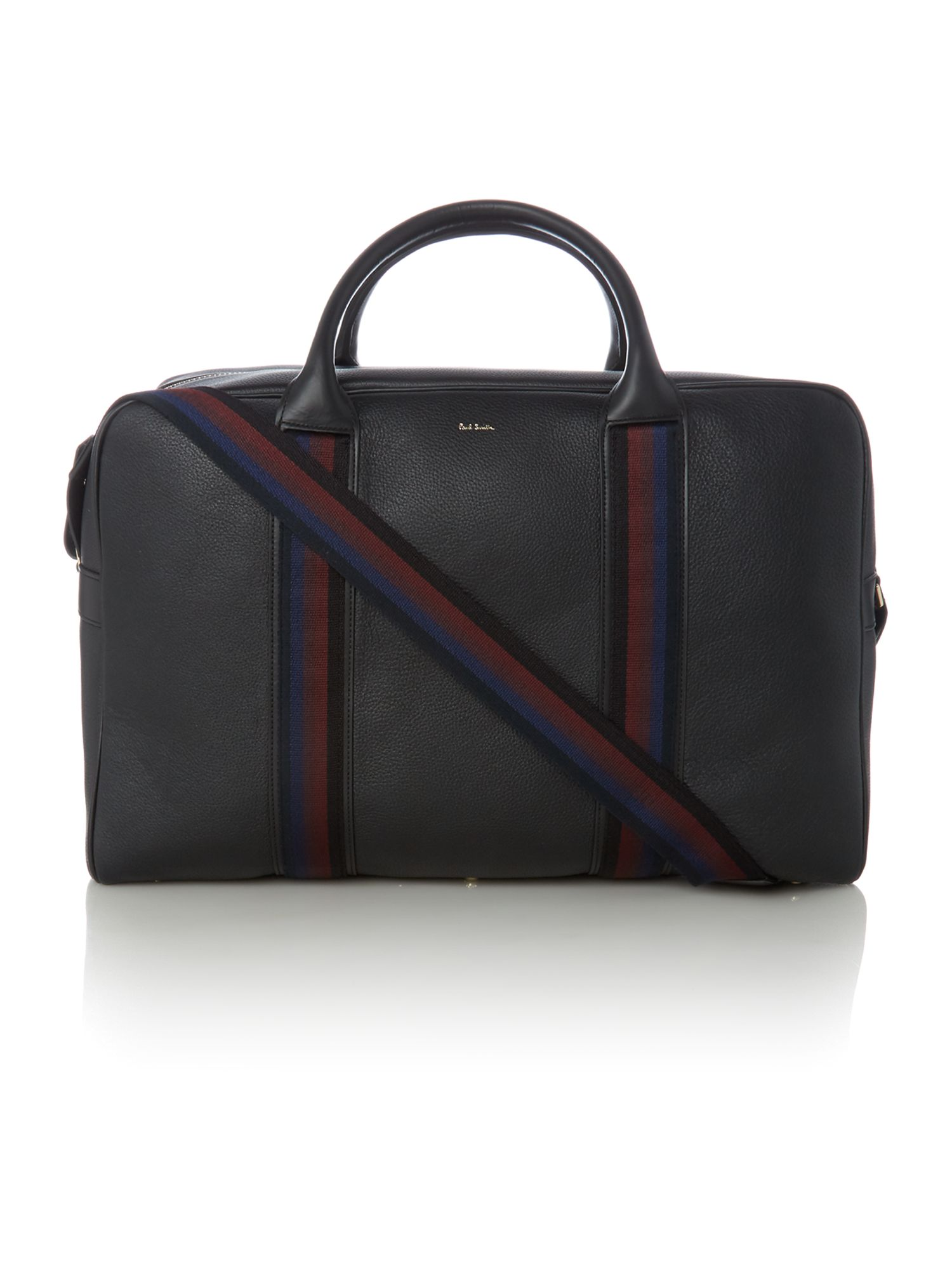 Paul Smith Webbing Leather Holdall Black