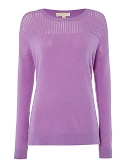 Long Sleeve Mesh Sweater