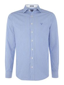 Gant Striped Spread Collar Long Sleeve Shirt