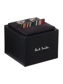 Paul Smith London Multi Rectangle Stripe Cufflink
