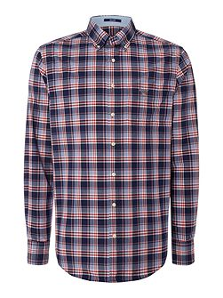 Dobby Plaid Long Sleeve Shirt