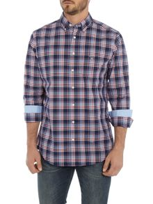 Gant Dobby Plaid Long Sleeve Shirt