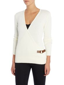 Michael Kors Cross Front Long Sleeve Cardigan