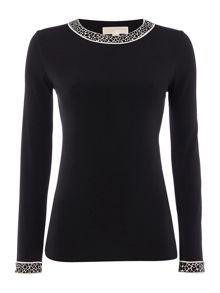 Michael Kors Long Sleeve Crewneck Top