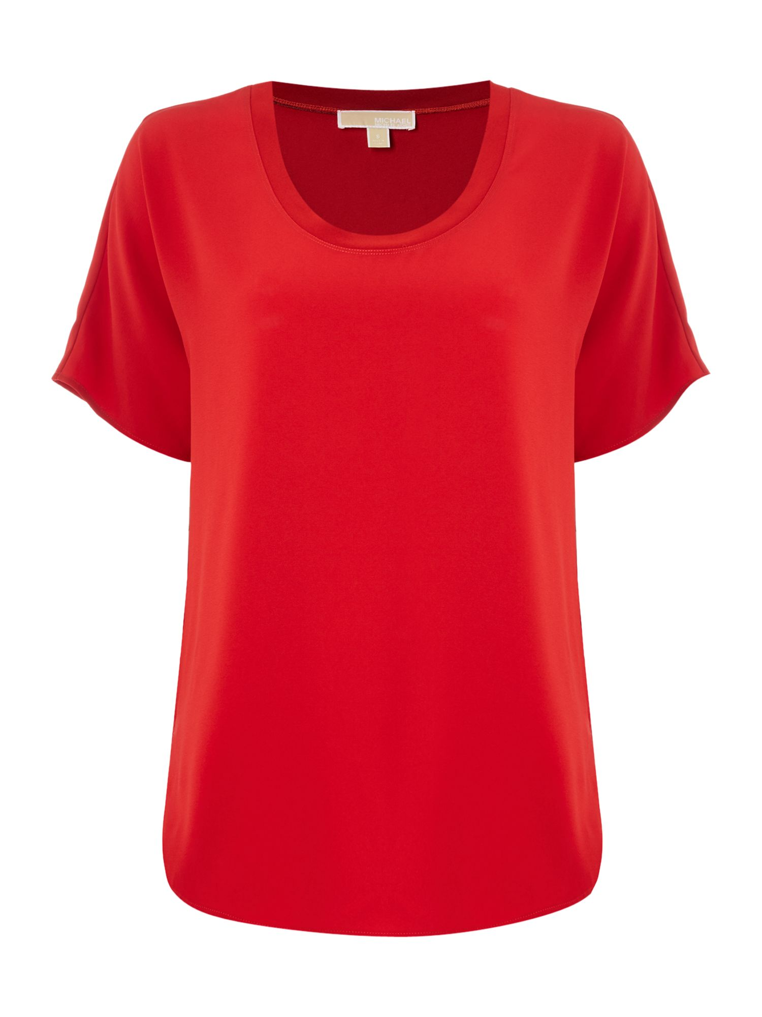 Michael Kors Cowl Neck Short Sleeve Top, Red