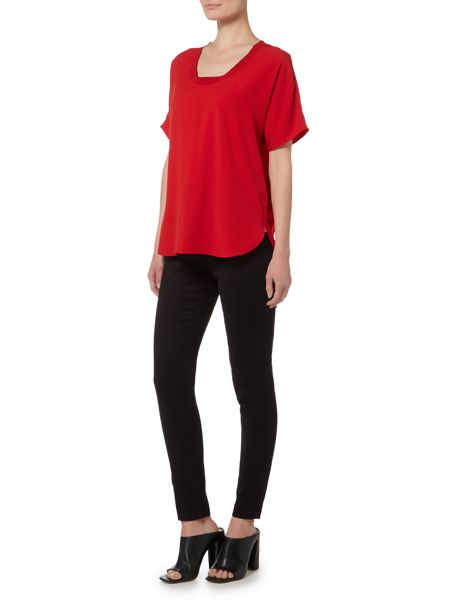 Michael Kors Cowl Neck Short Sleeve Top