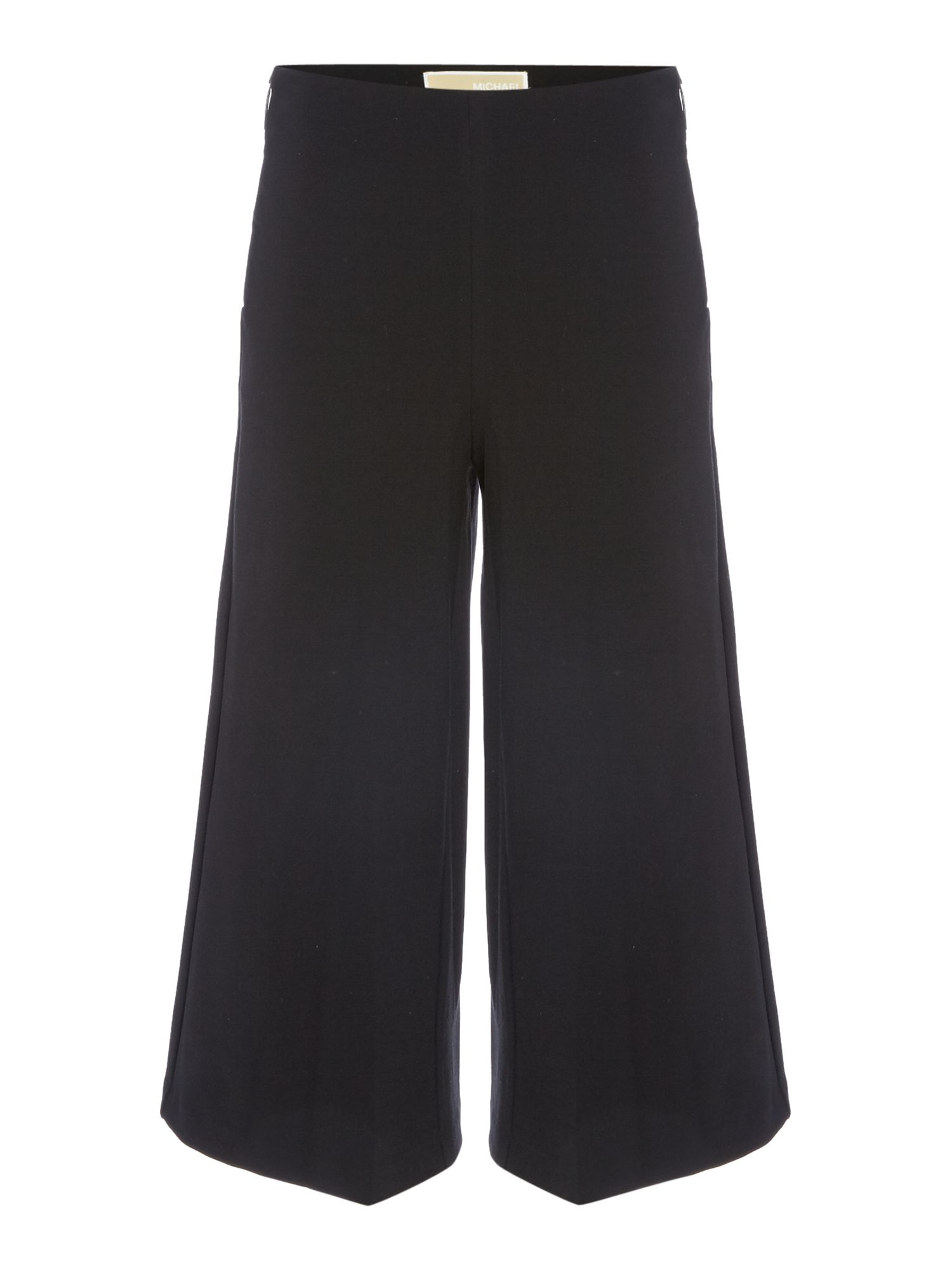 Michael Kors Side Zip Wide Leg Jeans, Black