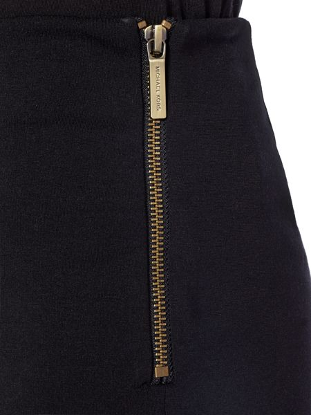 Michael Kors Side Zip Wide Leg Jeans