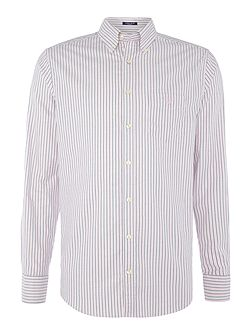 Banker Stripe Oxford Long Sleeve Shirt