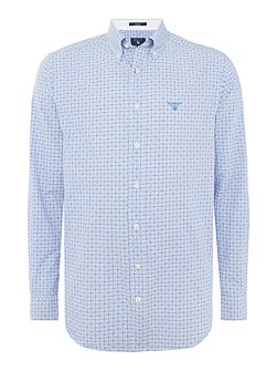 Dobby Gingham Long Sleeved Shirt
