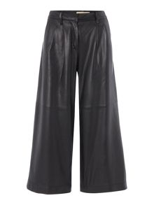 Michael Kors Leather Pleated Culottes