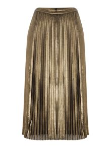 tfnc Pleated Metallic Midi Skirt