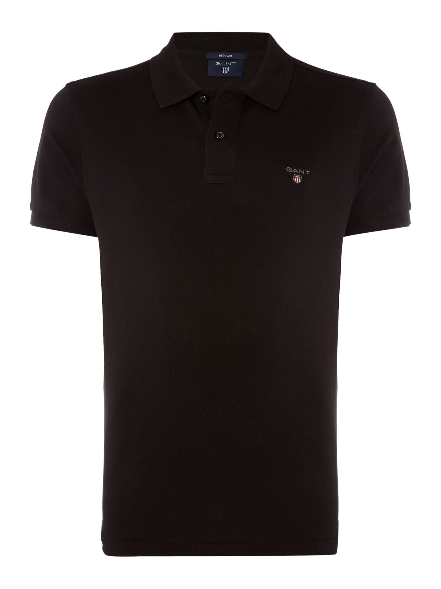 Men's Gant Original Pique Short Sleeve Polo, Black