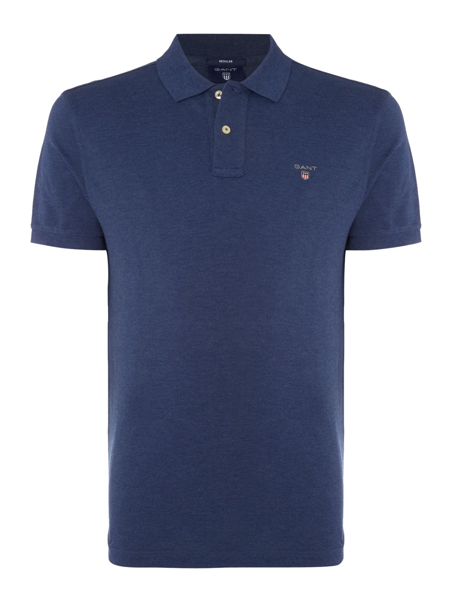 Men's Gant Original Pique Short Sleeve Polo, Melange Blue