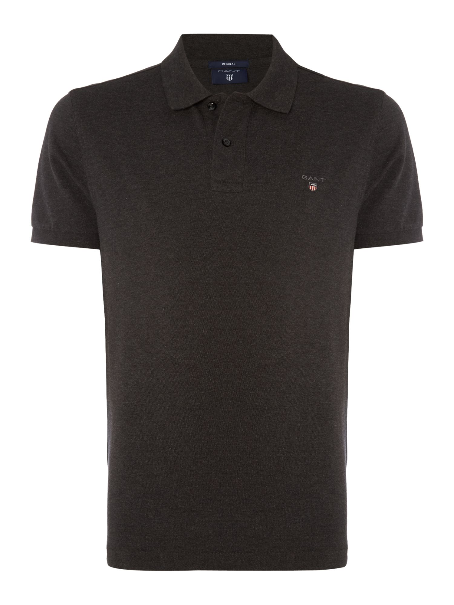 Men's Gant Original Pique Short Sleeve Polo, Charcoal
