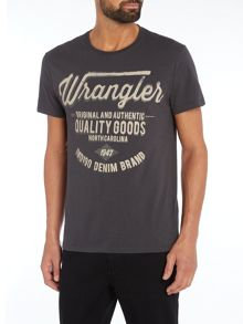 Wrangler Regular fit quality goods printed logo t shirt