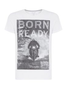 Wrangler Regular fit born ready printed r shirt