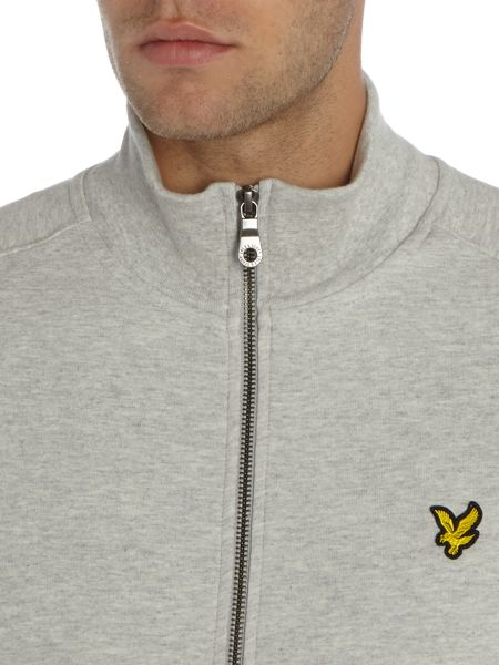 Lyle and Scott Lyle & Scott Zip-Through Funnel Neck Sweat Top