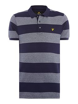 Wide-Stripe Short-Sleeve Polo Shirt