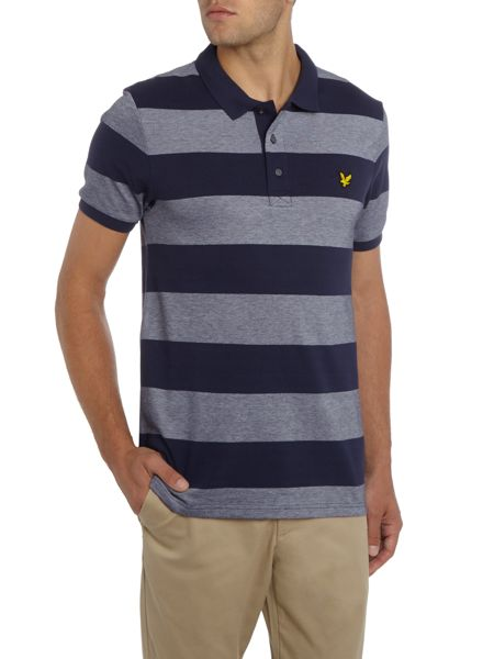 Lyle and Scott Wide-Stripe Short-Sleeve Polo Shirt