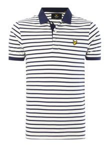 Lyle and Scott Lyle & Scott Short Sleeve Breton Stripe Polo