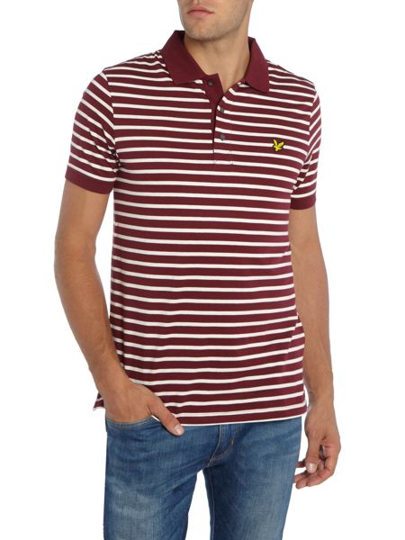 Lyle and Scott Breton Stripe Short-Sleeve Polo Shirt