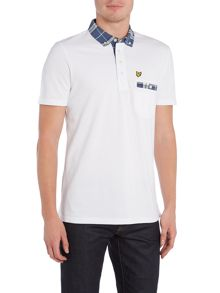 Lyle and Scott Check-Collar Short-Sleeve Cotton Polo Shirt