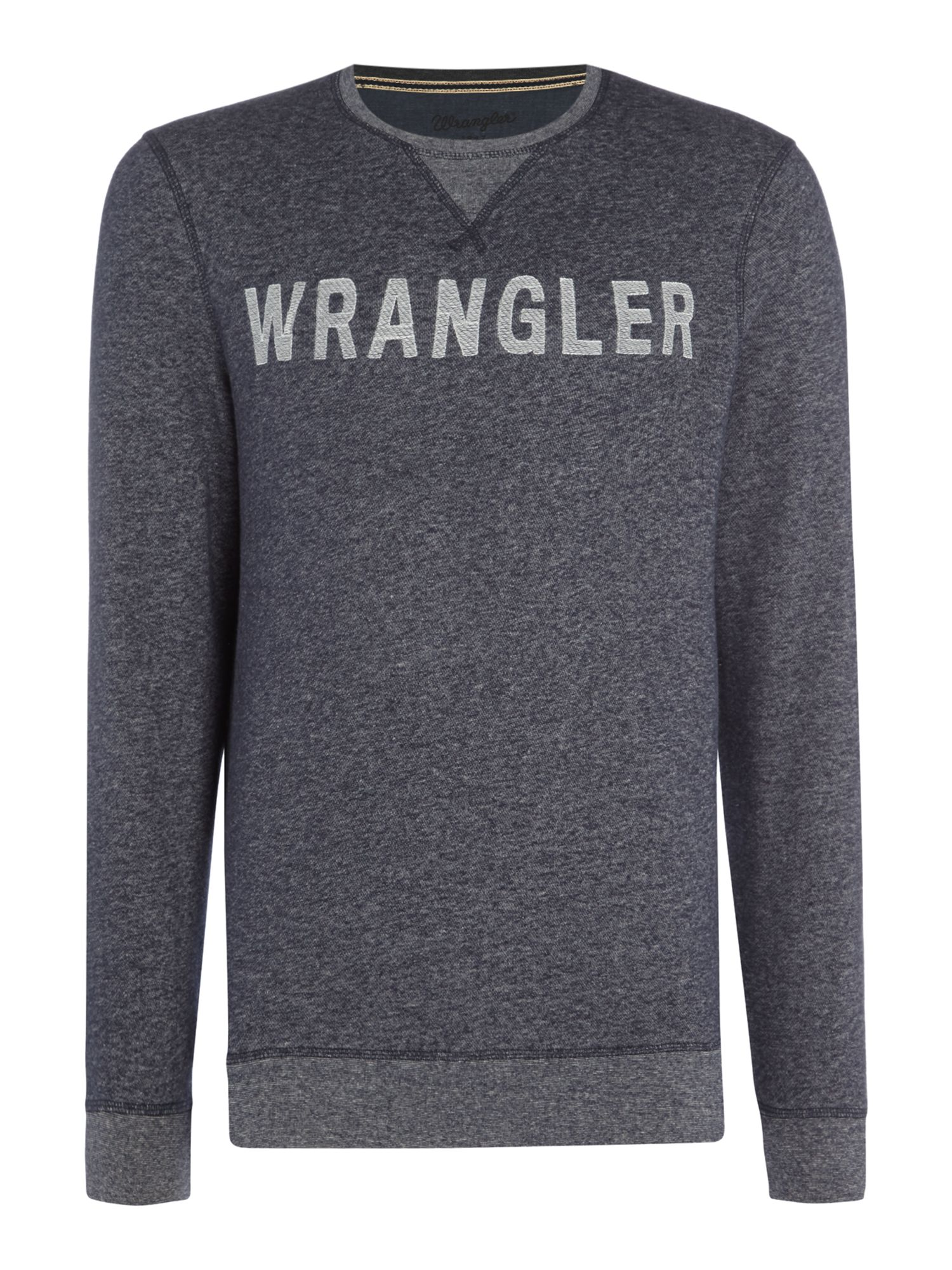 Men's Wrangler Long sleeve crew neck logo sweatshirt, Blue