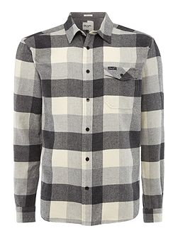 Regular fit 1 pocket large check western shirt