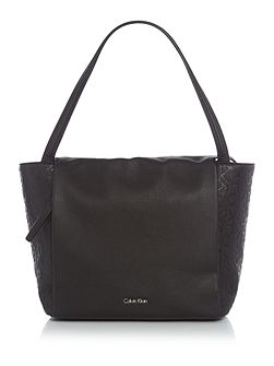 Misha black large tote bag