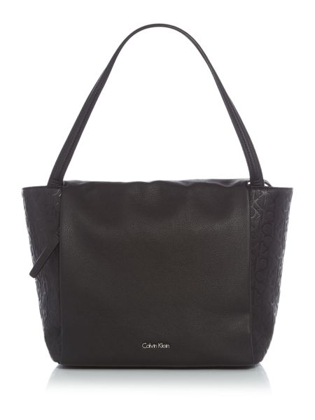 Calvin Klein Misha black large tote bag
