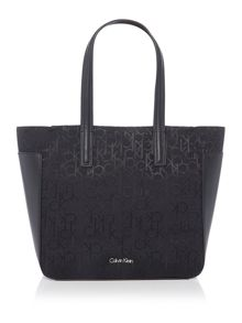 Calvin Klein Nina logo black small tote bag