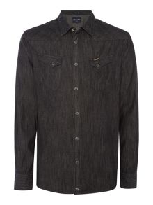 Wrangler Regular fit 2 pocket denim western shirt