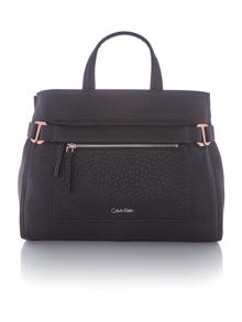Calvin Klein Cecile black large tote bag