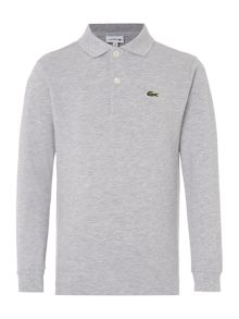 Lacoste Boys Long Sleeve Logo Polo Shirt
