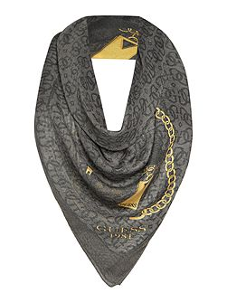 All over logo long scarf