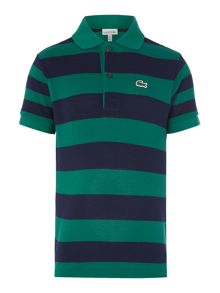 Lacoste Boys Block Stripe Polo Shirt
