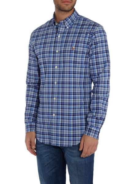 Polo Ralph Lauren Long sleeve slim fit multi check shirt