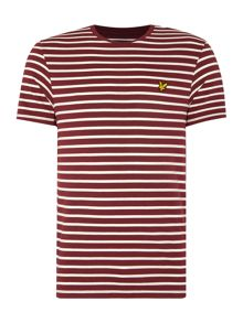 Lyle and Scott Breton Stripe Crew Neck T-Shirt