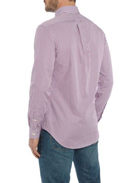 Polo Ralph Lauren Long sleeve slim fit poplin stripe shirt