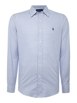 Long sleeve slim fit mini check shirt