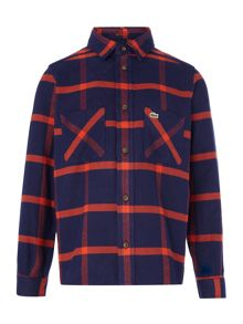 Lacoste Boys Long Sleeve Brushed Check Shirt